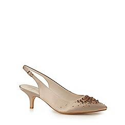 No. 1 Jenny Packham - Ivory satin 'Pamela' high stiletto heel slingbacks