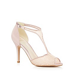 No. 1 Jenny Packham - Pink 'Peri' high stiletto heel T-bar sandals