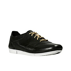Clarks - Black leather 'tri actor' lace up shoes
