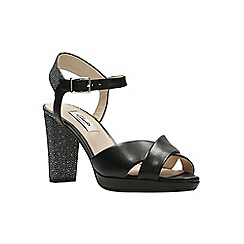 Clarks - Black interest lea 'kendra petal' sandals