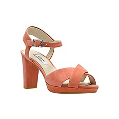 Clarks - Coral suede 'kendra petal' sandals