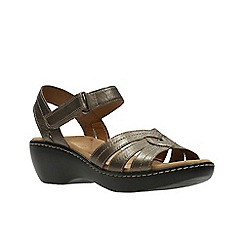 Clarks - Pewter leather 'delana varro' sandals