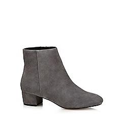 J by Jasper Conran - Grey 'Jasmin' mid block heel ankle boots