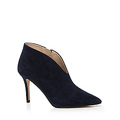 J by Jasper Conran - Navy suede pointed court shoes