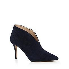 J by Jasper Conran - Blue suede high stiletto heel shoe boots