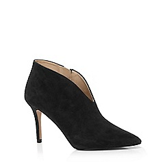 J by Jasper Conran - Black suede pointed court shoes