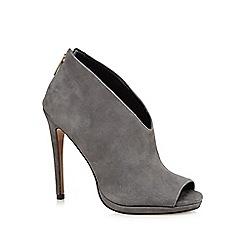 J by Jasper Conran - Grey suede high stiletto heel peep toe shoes