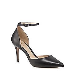 J by Jasper Conran - Black leather 'Jardine' high stiletto heel pointed shoes