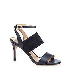 J by Jasper Conran - Blue leather 'Joanna' high stiletto heel ankle strap sandals
