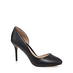 J by Jasper Conran - Black leather high stiletto heel court shoes