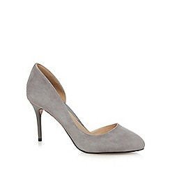 J by Jasper Conran - Grey suede high stiletto heel court shoes