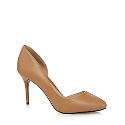 J by Jasper Conran - Beige leather court shoes