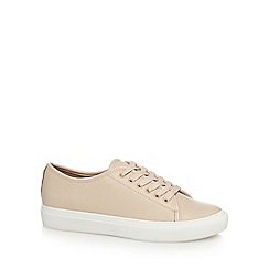 J by Jasper Conran - Light pink leather 'juliet' lace up trainers
