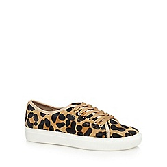 J by Jasper Conran - Leopard print pony hair 'juliet' lace up trainers