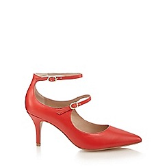 J by Jasper Conran - Red leather 'Janine' high stiletto heel court shoes