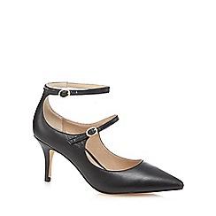 J by Jasper Conran - Black leather 'Janine' mid heel court shoes