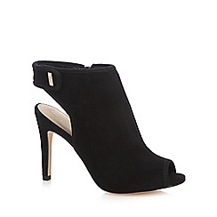 J by Jasper Conran - Black suede 'Jazz' high stiletto heel shoe boots