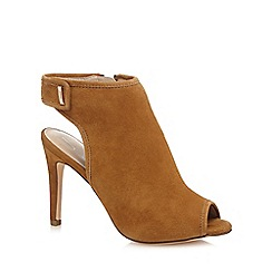 J by Jasper Conran - Tan suede 'Jazz' high stiletto heel shoe boots