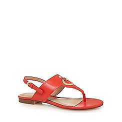 J by Jasper Conran - Orange leather T-bar sandals