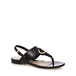 J by Jasper Conran - Black leather T-bar sandals