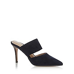 J by Jasper Conran - Navy leather 'Jaffa' high stiletto heel mules