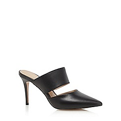 J by Jasper Conran - Black leather 'Jaffa' high stiletto heel mules
