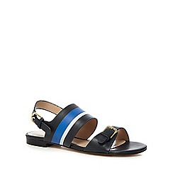 J by Jasper Conran - Navy leather 'Jara' ankle strap sandals