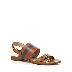 J by Jasper Conran - Tan leather 'Jara' ankle strap sandals