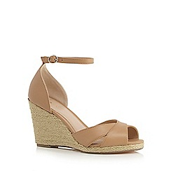 J by Jasper Conran - Tan 'Jennabel' high wedge heel espadrilles