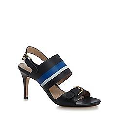 J by Jasper Conran - Black leather 'Jamie-Lynn' high stiletto heel ankle strap sandals