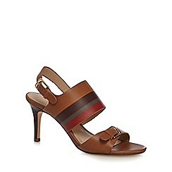 J by Jasper Conran - Tan leather 'Jamie-Lynn' high stiletto heel ankle strap sandals