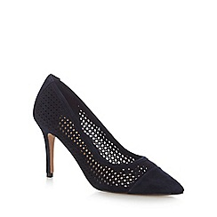 J by Jasper Conran - Navy suede 'Juanita' high stilleto heel pointed shoes
