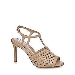 J by Jasper Conran - Light pink leather 'Jewel' high stiletto heel T-bar sandals
