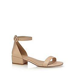 J by Jasper Conran - Natural 'Justice' mid block heel ankle strap sandals