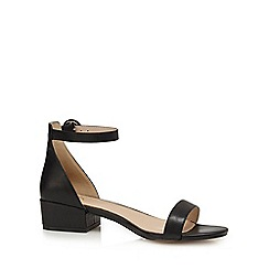 J by Jasper Conran - Black 'Justice' mid block heel ankle strap sandals