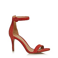 J by Jasper Conran - Orange leather 'Julissa' high stiletto heel ankle strap sandals