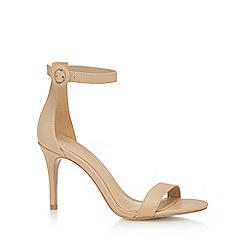 J by Jasper Conran - Nude leather 'Julissa' high stiletto heel ankle strap sandals
