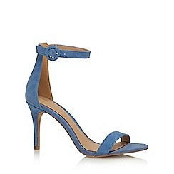 J by Jasper Conran - Blue leather 'Julissa' high stiletto heel ankle strap sandals
