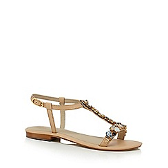 J by Jasper Conran - Natural leather 'Jwow' T-bar sandals