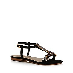 J by Jasper Conran - Black suede 'Jwow' T-bar sandals