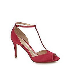 J by Jasper Conran - Pink satin 'Jemma' high stiletto heel T-bar sandals