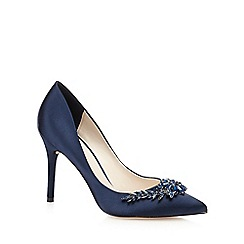 J by Jasper Conran - Blue satin 'Jonelle' high stiletto heel court shoes