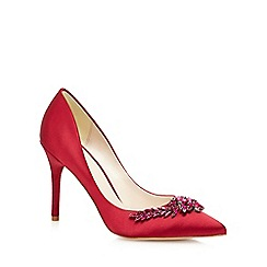 J by Jasper Conran - Red satin 'Jonelle' high stiletto heel court shoes