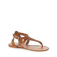 J by Jasper Conran - Tan leather 'Jeri' T-bar sandals