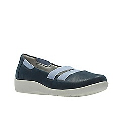 Clarks - Navy 'sillian rest' slip-on