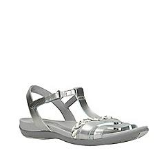 Clarks - Silver tealite grace women's sandals