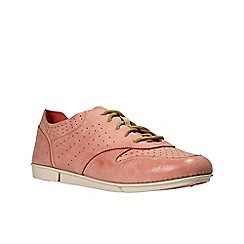 Clarks - Coral leather tri accord women's flat shoes