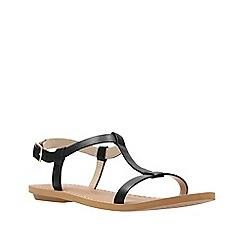 Clarks - Black leather voyage hop women's sandals