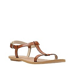 Clarks - Tan leather ' Voyage Hop ' sandals