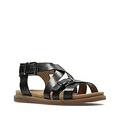 Clarks - Black leather corsio bambi sandals